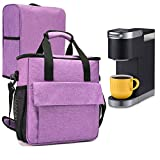 VOSDANS Travel Coffee Maker Carry Bag With a Cover, Travel Case for Keurig K-Mini or Keurig K-Mini Plus Coffee Maker or Coffee Pod or Keurig Travel Mug, Purple (Bag and Cover Only) (Patent Design)