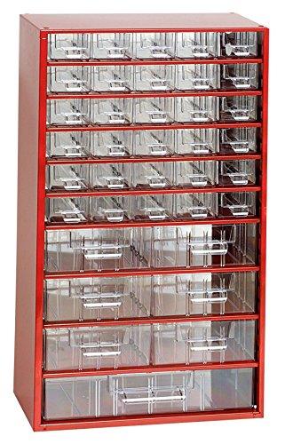 Kleinteilemagazin METALL rot 30+6+1 Schubladen Werkstattqualität