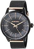 Diesel Damen Analog Quarz Uhr mit Edelstahl Armband DZ5577