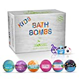 Sky Organics Kids Bath Bombs Gift Set w/Surprise Toys Inside Fun...