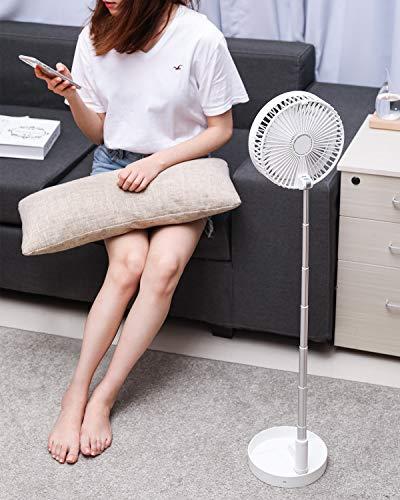 Ventilatore da Tavolo, BlitzWolf Table Fan, Ventilatori Espandibile Pieghevole, Ventilatore del Piedistallo 7200mAh Ultra Compatto Integrato per Casa, Ufficio, Campeggio, Picnic (4 Velocità)
