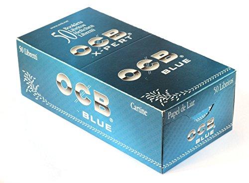 OCB - Papel para liar cigarrillos cortos X-Pert Blu - Caja de 50 librillos