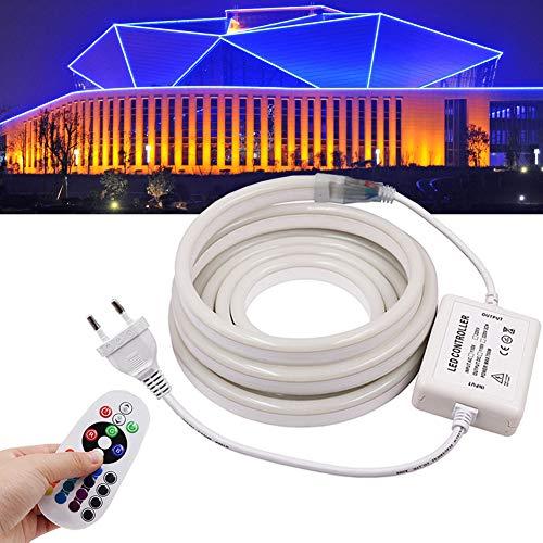 XUNATA 12m Flexible RGB LED Neon light + 24 Teclas Mando a...