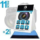 CAMKIX Pañuelos de Limpieza para Lentes 11 Paquetes / 550 Hojas + Paño de Limpieza de Doble Cara – Papel Limpiador para Lentes de Cámara – Paño de Limpieza de Doble Cara