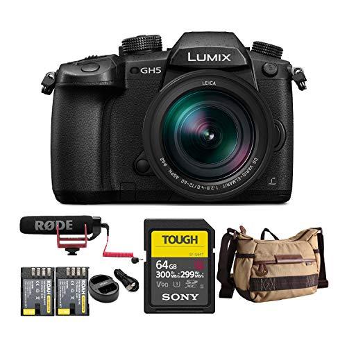 Panasonic LUMIX GH5 4K Mirrorless Camera with Leica DG 12-60mm Lens and...