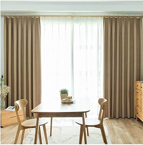 LJWLZFVYJ Moderne minimalistische Herringbone Leinen Baumwolle Nordic Vorhänge Wohnzimmer Schlafzimmer Schatten Isolationsvorhänge 140x260cm (B x H) 2 Stück
