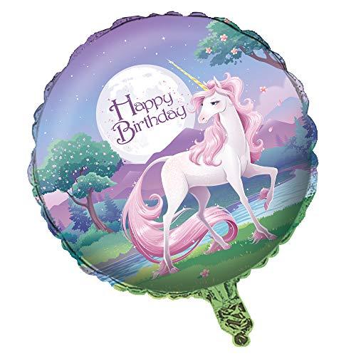 COOLMP – Lote de 6 Globos de Aluminio con Unicornio mágico de 46 cm – Talla única – Decoración y Accesorios de Fiesta, animación, cumpleaños, Boda, Evento, Juguete, Globo