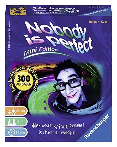 Ravensburger Kartenspiele 26700 - Nobody is perfect - Mini Edition