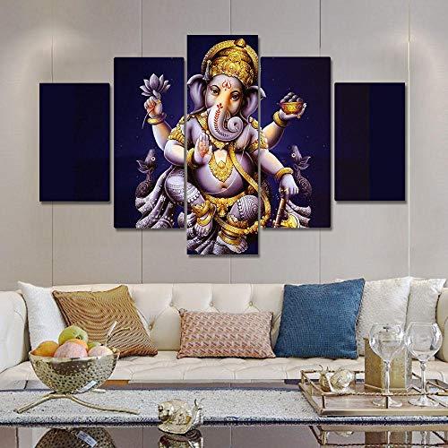 Canvas Schilderij Olifant Koffer God Religie Posters En Prints Muur Foto 'S Voor Woonkamer Muur Decoratie ; 40x60 40x80 40x100cm geen frame