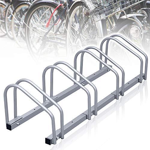 wolketon Fahrradständer, Aufstellständer für 4 Fahrräder, Fahrrad Ständer Boden Wand Montage Metall Platzsparend