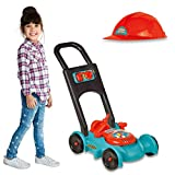 IQ Toys Lawn Mower Toy for Kids - Garden Gas Lawn Mower with Gardener Hat and Pretend Gas Tank for...