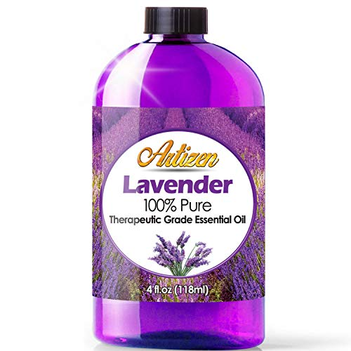 4oz - Artizen Lavender Essential Oil (100% Pure & Natural - UNDILUTED) Therapeutic Grade - Huge 4 Ounce Bottle - Perfect for Aromatherapy, Relaxation, Skin Therapy & More!