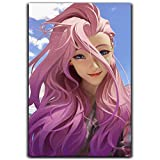 DRAGON VINES League Legends Seraphine Posters Lienzo de pared Art Room Dormitorio Virtual Idol Kda Virtual Girl Group Beautiful Girl Loli Music Producer 30,5 x 45,7 cm