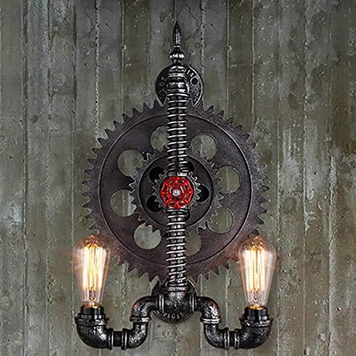 YONGYONGCHONG Zaklamp Muur Licht Water Pijp Gear Smeedijzeren Muur Lamp Loft Landelijke Zware Industrie Wind IJzer Ambacht Hoge Temperatuur Verf Wandlamp Binnen Verlichting Binnenplaats licht