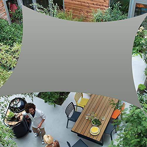 Awroutdoor Toldo Vela de Sombra Cuadrado 3 x 4 m, Vela de Sombra Cuadrado Protección Rayos UV Impermeable para Patio, Exteriores, Jardín