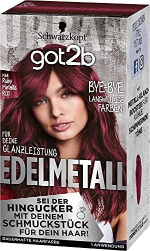 got2b Edelmetall Haarfarbe, M68 Ruby Metallic Rot, 3er Pack (3 x 197 ml)