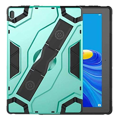 SMZNXF Tablet PC case,Shockproof Armor TPU PC Portable Hand Strap Stand Tablet Cover For Lenovo Tab E10 10.1 inch TB-X104F TB X104F Case,green