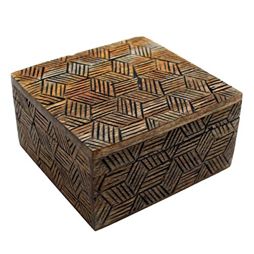 Gall&Zick CL-110 Wooden Box with Lid Decorative Box Handmade