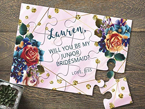 Junior Bridesmaid Proposal Puzzle, Will You Be My Bridesmaid Puzzle, Flower Girl Puzzle, Custom Floral Puzzle Proposal