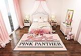 Happves Alfombra Pantera Rosa Moderno geométrico Tradicional Sala de Estar Dormitorio decoración del hogar Yoga Ocio Estera Estera de arrastre-160x230cm