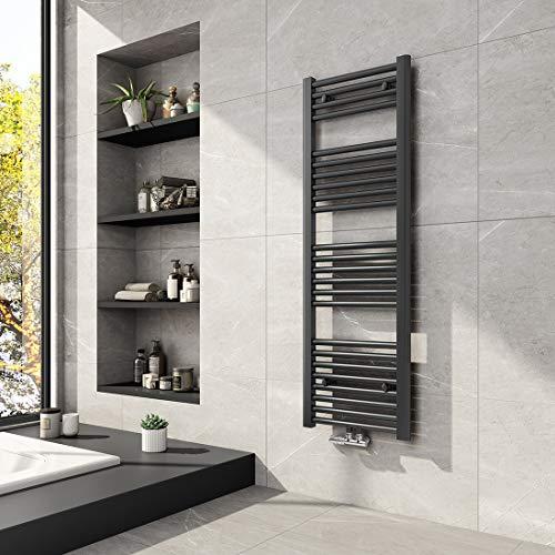 Meykoers Badheizkörper 1200x400mm Mittelanschluss 458 Watt Anthrazit, Handtuchtrockner Handtuchwärmer Design Heizkörper für Bad Heizung Radiator