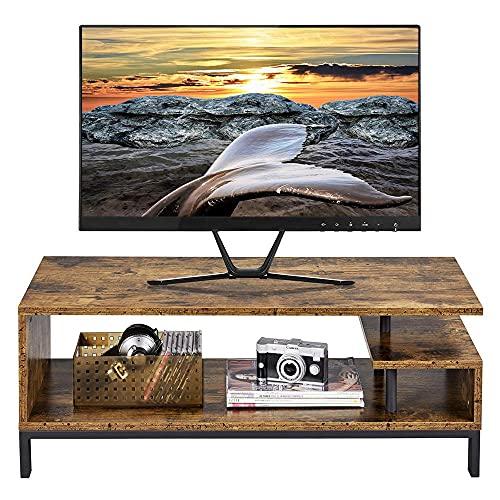 Yaheetech Mesa de TV con Estantes Mueble de Televisor Mesa de Salón...