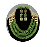 Conjunto de joyas africanas de perlas africanas y perlas nigerianas para bodas y fiestas.