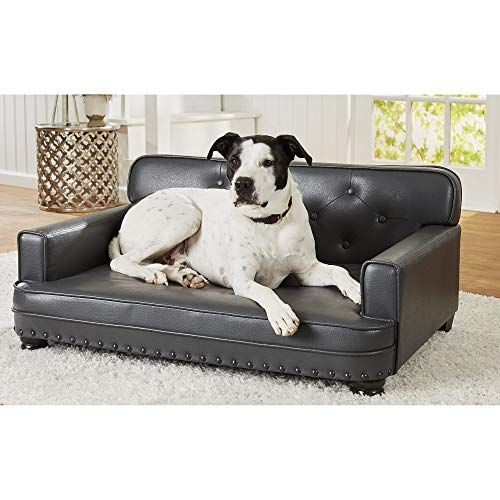 Enchanted Home Pet Library Pet Grey Sofa for Dog,...