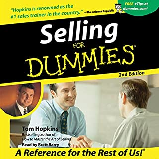 Page de couverture de Selling for Dummies, Second Edition