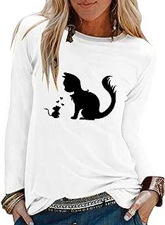 2019 New T-Shirt, Women's Halloween O-Neck Long Sleeve Loose T-Shirt Blouse Casual Long Sleeve Top
