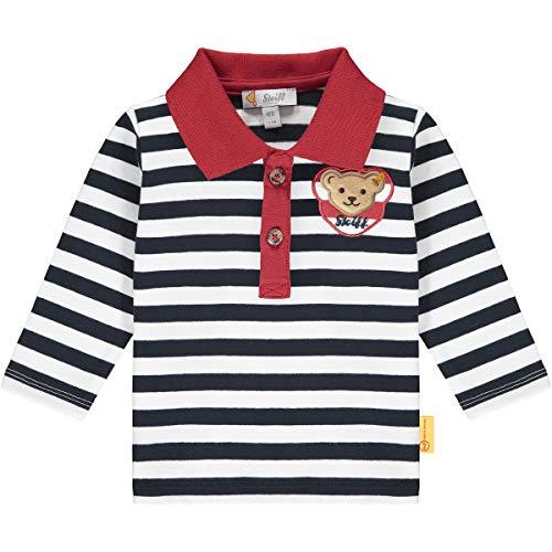 Steiff Baby-Jungen mit süßer Teddybärapplikation Poloshirt Langarm, Navy, 050