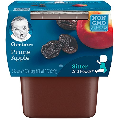 Gerber 2nd Foods Prunes with Apple, 4 Ounce Tubs, 2 Count...