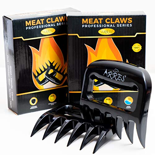 Arres Pulled Pork Claws & Meat Shredder - BBQ Grill Tools and Smoking Accessories for Carving, Handling, Lifting (Meat Claws 2pack)