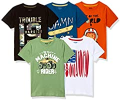 Max Boy's Regular fit T-Shirt (Pack of 5)