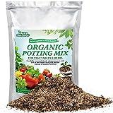 Potting Soil Mix, 2qt Organic Bonsai Succulent Soil for Plants, Growing Indoor Kitchen Vegetables, Herbs, Indoor Plants, Herb Growing Soil Mixture Small Bag