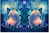 AFHK Rompecabezas 1000 Piezas de Rompecabezas de Madera Rompecabezas y Puzzles Accesorios de Rompecabezas Tangram Rompecabezas de Madera Gato Animal patrón Decoraciones para el hogar Adecuado para a