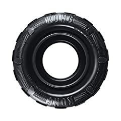Power Chewing Dogs: The natural KONG Extreme black rubber formula is created to be tough for determined chewers. Great For Stuffing: The KONG Tires is even more enticing when the inside wall is stuffed with KONG Easy Treat, Snacks or peanut butter. F...