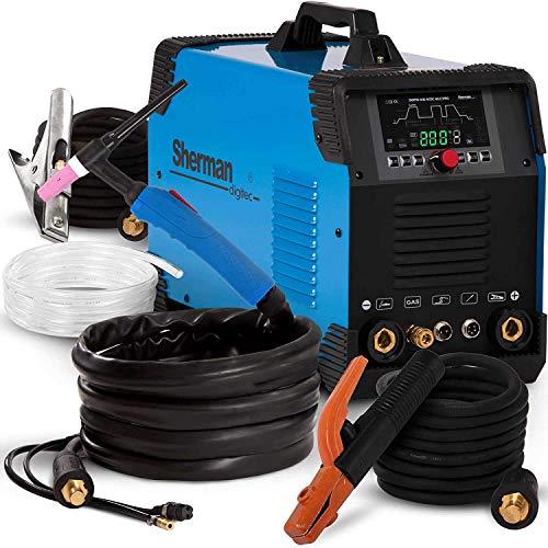 TIG Welder AC DC 240V Professional Welding Machine Arc Welder MMA Inverter Welder Gas Gasless...