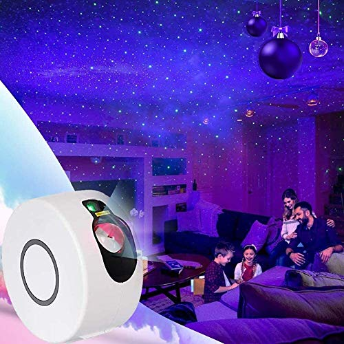 JRSWDS 3 in 1 LED Night Light, Nebula Star Projector Light with 15 Lighting Modes with Remote Control 360 ° Rotation Ocean Wave for Gifts Decor Party Wedding Bedroom Halloween Christmas
