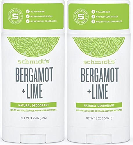 Schmidt's Deodorant Stick Bergamot + Outlet ☆ Free Shipping Lime - 3.25 Selling and selling 2 Pack of oz