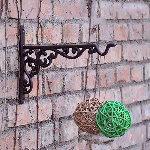 anruo Binnen en buiten bloempotten holle gang gietijzeren hanger muur opknoping woondecoratie woonkamer haak werf tuin