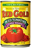 Red Gold Diced Tomatoes, Chili Ready, 14.5 Ounce