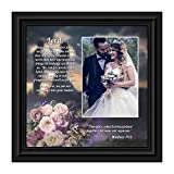 Christian Wedding Gifts for Couple, Engagement Gift for Bride and Groom, Christian Bridal Shower Gift for Bride, Rustic Wedding Decor, 'A Marriage Prayer' Picture Framed Poem, 6325B