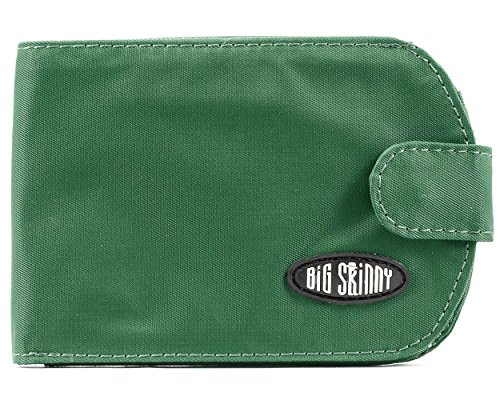 Big Skinny Women's Taxicat Bi-Fold Slim Wallet, Holds Up to 25 Cards, Verdant Green