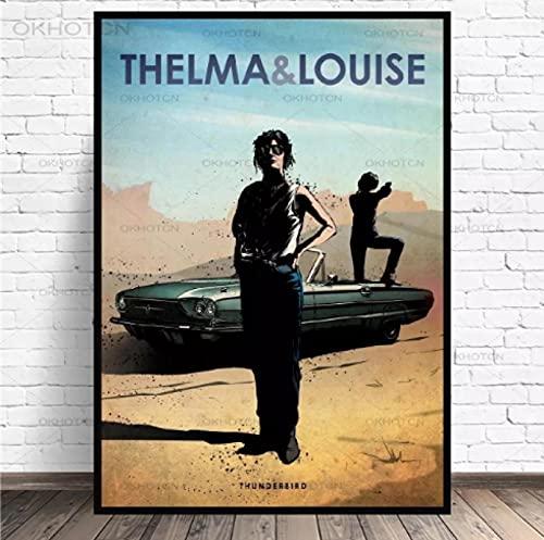 Tidyz 抽象テルマ&ルイーズキャンバス絵画映画車のアートプリントポスター寝室の装飾現代のミニマリストの壁の芸術の写真