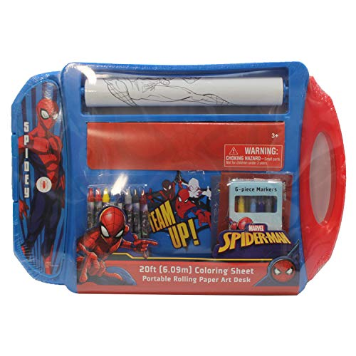Dazzling Deals Spiderman Portable Rolling Paper Art Desk