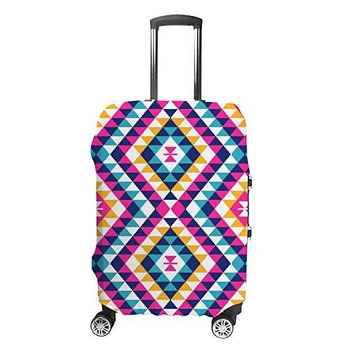 Gepäckabdeckung, verdickt, waschbar, bunt, geometrisch, Polyester, elastisch, faltbar, leicht, Reisekoffer-Schutz