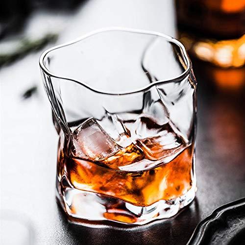 Vidrio 20 Unids/Lote 245 Ml Whisky Whisky Escocés Vasos De Vino De Cristal Irregulares Vasos Para Beber Cristalería Apta Para Lavavajillas Copa De Vino