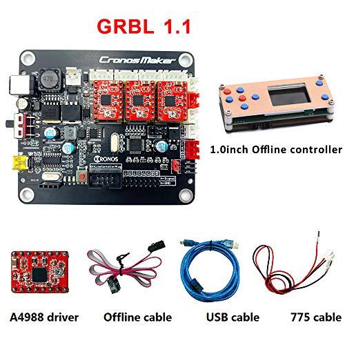 3D Drucker CNC Modul Kit, CNC 3D Printer Steuerung Kit 3-Achsen-GRBL-Treiber-Controller-Board DIY-Graveur-Control-Board, für GRBL,1610,2418,3018 Maschine offline Controller Board