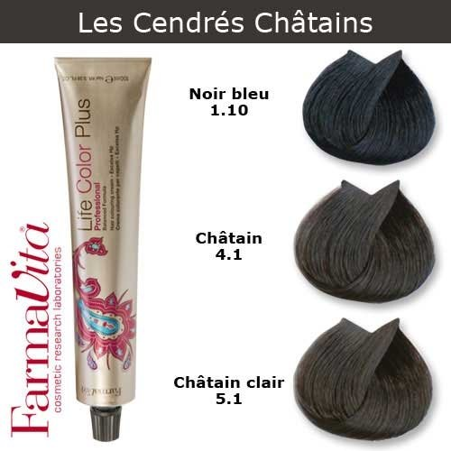 Coloration cheveux FarmaVita - Tons Cendrés Châtains Châtain clair cendré 5.1